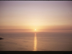 Vico sunset from our room 11-09-1970