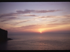 Vico sunset from our window 2