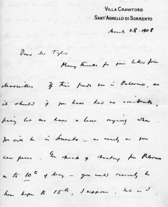 Lettera F.M. Crawford parte 1
