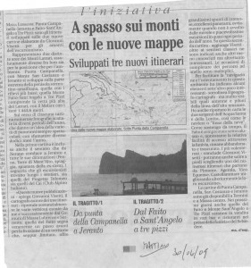 articolo de Il Mattino 30-06-2009