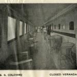 veranda piroscafo Colombo