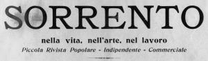 """Testata della rivista """"Sorrento"""" del 1905."""