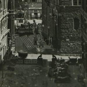 particolare di lastra fotografica del XIX secolo.