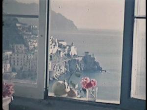 Veduta dall'interno dell'Albergo Cappuccini (fotogramma 16mm)